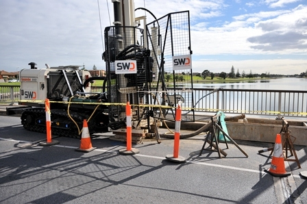 Gleneld S.A. Bridge investigation . SPT, U63 and CPT with 1 rig